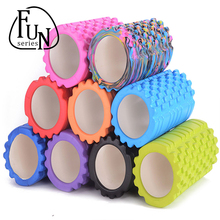 FunSeries 33*14cm 750g EVA Yoga Pilates Fitness Foam Roller Column Gym Massage Grid Trigger Point Therapy Exercise Physio Stick