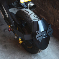 Motorcycle Accessories Black Red Rear Fender Mount Hugger Mudguard Wheel Hugger Splash Guard Cover for MSX 150 M3