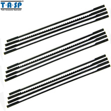 """TASP 12pcs 5"""" 125mm Pinned Scroll Saw Blades TPI 10/15/18/24 Power Tools Accessories for Woodworking MSSB1604"""