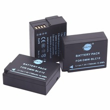 DSTE 3 шт. DMW-BLC12 DMWBLC12 BLC12 Перезаряжаемые Батарея для Panasonic DMC-GH2 DMC-GH2GK DMC-G6 DMC-G7 DMC-GX8 DMC-G85 Камера