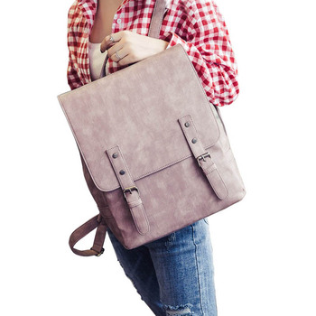 c30a9fc2a5 See More 2017 Women Backpack Vintage Shoulder Bag PU Leather Backpacks  Simple Style Casual Rucksack Large School Bags For Teenage Girls
