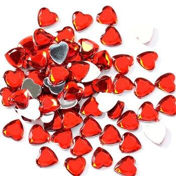 Piezas de juego Chessman de diamantes de cristal acrílico en forma de corazón de 10mm de 200 Uds., accesorios para juegos de mesa