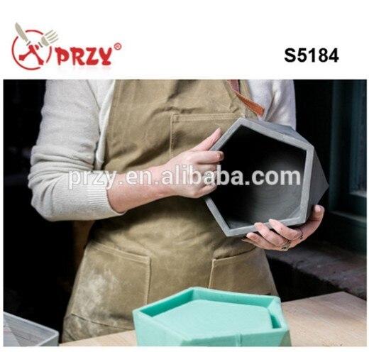 Gel de silice Silicone Moule en béton de ciment Réutilisable Moule 3D vase et jardinières silicone moules pour béton planteur de S5184