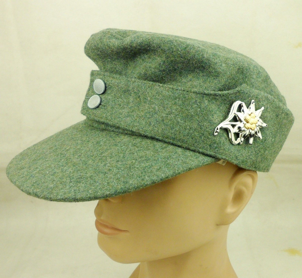 Ww2 German Police M43 Hat Badge: WWII German Mountain Division Cap M43 Hat & German