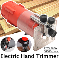 30000RPM 220V Wood Trim Router 6.35mm Collect Diameter Electric Hand Trimmer Woodworking Laminate Palms Router Joiner Tool