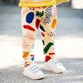 Bobo choses 2017 del verano del bebé niños niñas pantalones de harén 100% algodón estampado Geométrico blanco amarillo little kids primavera pantalones FC009