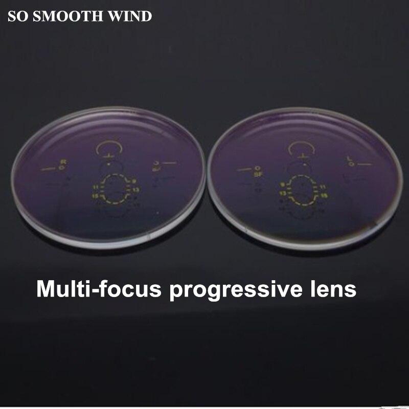 1.56 1.61 index progressif lentilles asphériques multi-focales HMC placage film vert myopie lentilles à haut poids moléculaire pour 2 pièces
