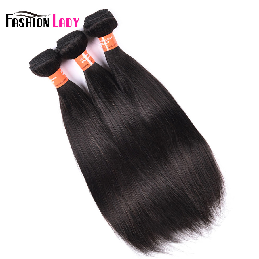 Fashion Lady Pre-Colored Raw Indian Hair Straight Human Hair Natural Color Human Hair Weaving 3 Pieces Non-Remy