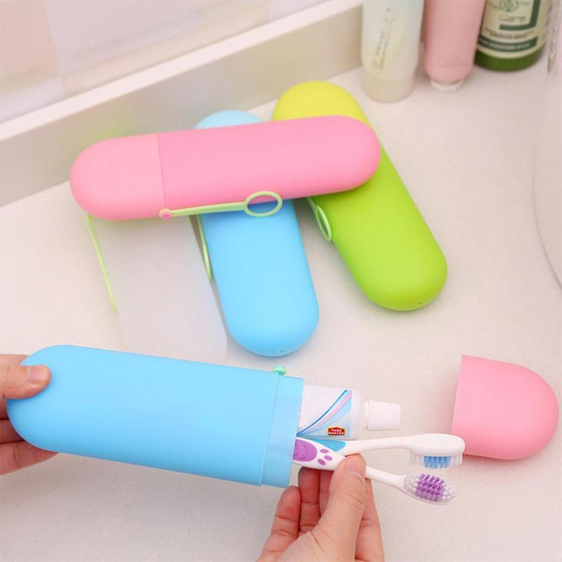 Portable Toothbrush Holder Case Candy Colors Travel Toothpaste Protect Box