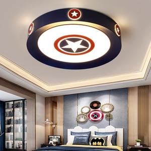 Modern led ceiling lights for children kids room luminaria teto acrylic lamparas de teco Children Cartoon ceiling lamp(China)