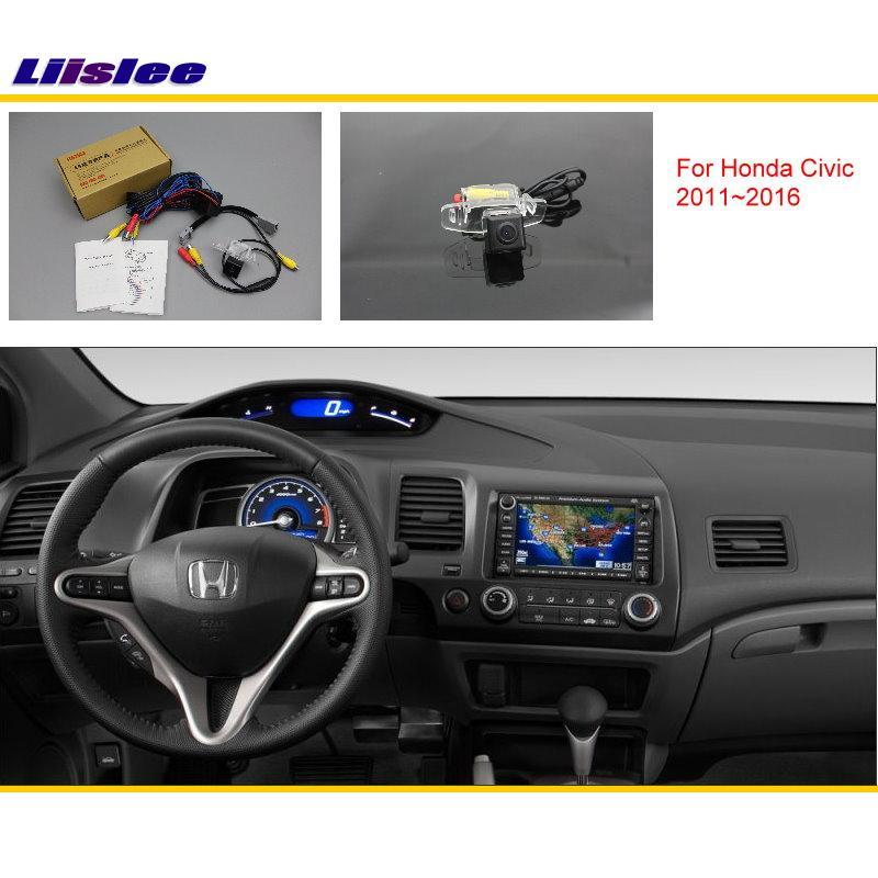 Liislee Honda Civic (FB) 2011 ~ 2016 auto tagantvaade kaamerakomplektid / RCA & originaalekraan Ühilduv / parkimiskaamera