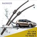 """Cuchilla de limpieza para Mazda 3 (2003-2008) 21 """"+ 19"""" Un ajuste lateral tipo pin brazos del limpiaparabrisas sólo HY-006B"""