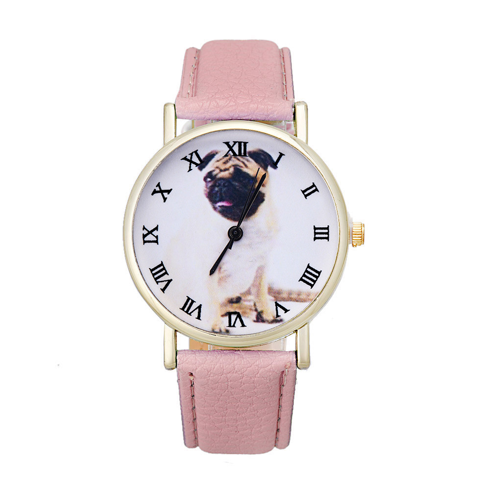 Newly Design Dog Pug Watch Women Girl PU Leather Quartz Wrist Watches ladies watch Reloj Mujer Bayan Kol Saati relogio feminino newly design dog pug watch women girl pu leather quartz wrist watches ladies watch reloj mujer bayan kol saati relogio feminino