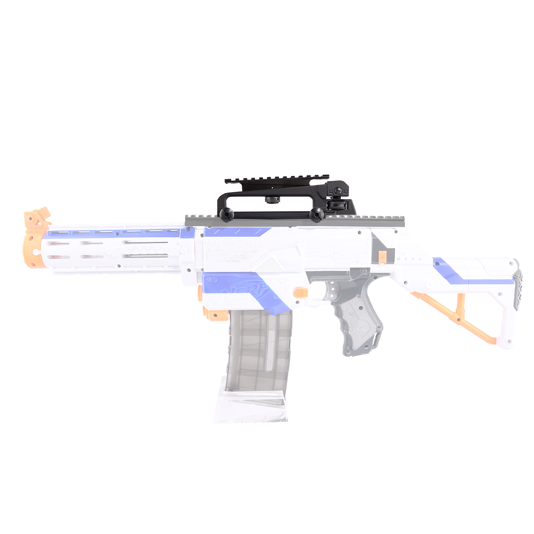 Jinming Metal Guide Rail for Modified Nerf Equipped + Adjustable Guide Rail Metal Carrying Device for Nerf Black