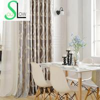 Cloud High Precision Jacquard Curtain Fabric Light Luxury Blackout Pastoral Floral Curtains Cortinas For Living Room