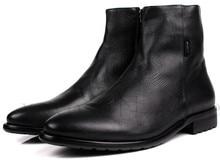 Мода коричневый загар/черный мужские ботинки из натуральной кожи мотоциклов сапоги зимние мужские рабочая обувь мужская повседневная обувь оптом