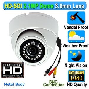 Image 1 - CCTV 2MP CMOS HD パナソニック 1080 1080p 防水屋外屋内ドーム SDI セキュリティカメラ 3.6 ミリメートル 3MP レンズ 18 個 IR アレイ Led メタルケース