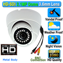 CCTV 2MP CMOS HD Panasonic 1080 P Waterdichte Outdoor Indoor Dome SDI Security Camera 3.6mm 3MP Lens 18 pcs IR Array LED Metal Case