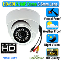 CCTV 2MP CMOS HD Panasonic 1080P Waterproof Outdoor SDI IR Security Camera 3 6mm 3MP Lens