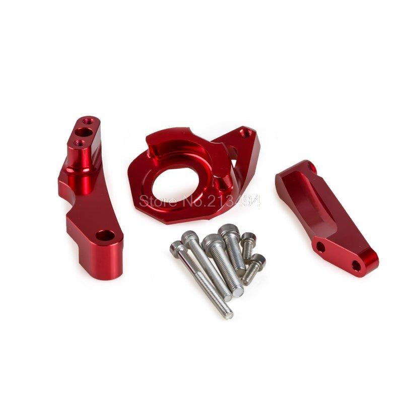 Hot! Steering Damper Mounting Kit For Suzuki GSXR600 GSX-R600 GSXR750 GSX-R750 K4 K5 2004 2005 Anodized Red Motorcycles Tools new billet aluminum steering damper with bracket for suzuki gsx r600 gsx r750 2004 2005 titanium