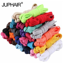 1Pair Flat Lace Polyester Cotton Color Women Casual Mens wax-free Hot Sale 9 mm Wide Shoelace Laces for Sports Shoes