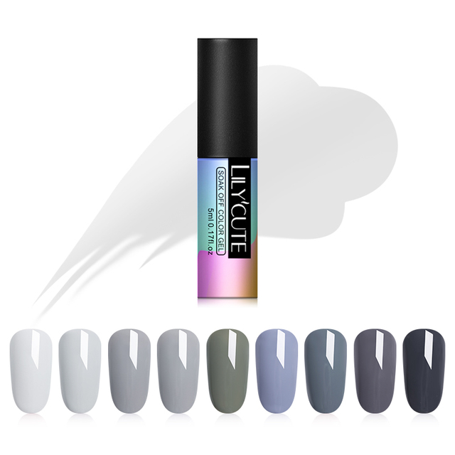 LILYCUTE Grey Series 5ML UV Gel Nail Polish