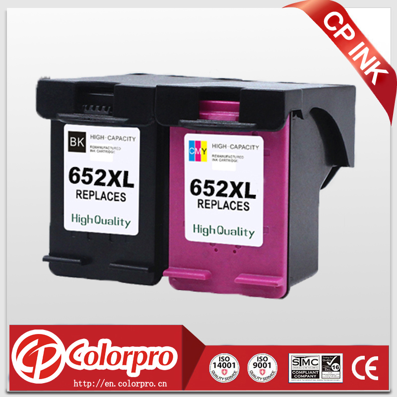 CP <font><b>652</b></font> Replacement for HP652XL <font><b>652</b></font> <font><b>Ink</b></font> <font><b>Cartridge</b></font> for <font><b>HP</b></font> DeskJet 1115 1118 2135 2136 2138 3635 3636 3835 4536 4538 (1BK/1C) image