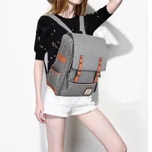 Image 2 - Laamei école sac à dos étudiant sac à dos pour ordinateur portable Style Preppy cahier sac à dos voyage sacs à dos unisexe sac à dos mochila cadeau