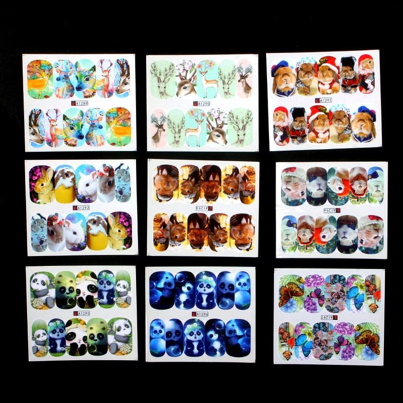 2019 Neuer Stil Zko 41 Sheets Nette Katze Hund Design Wasser Transfer Aufkleber Nail Art Wraps Nägel Tipps Decals Temporäre Tattoos Nagel Aufkleber Komplette Artikelauswahl