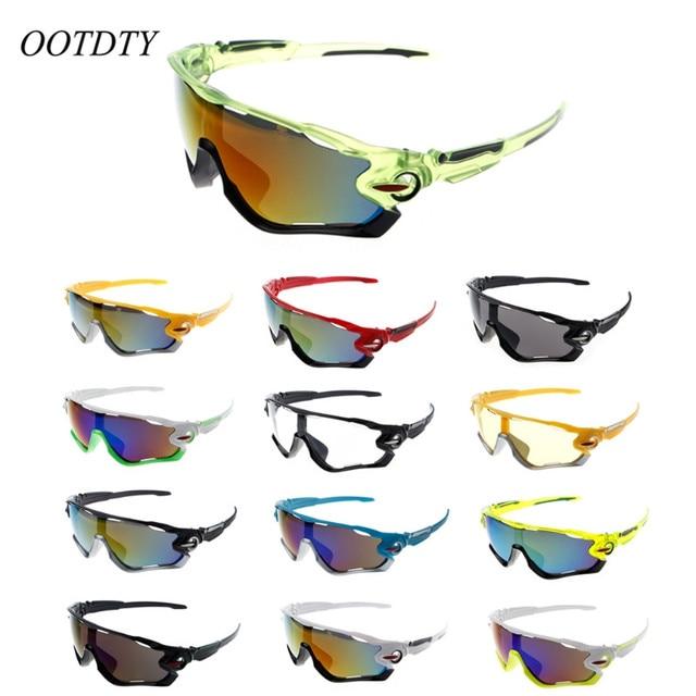 OOTDTY UV400 Cycling Eyewear Bike Bicycle Sport Explosion-proof Goggles Hiking Men Motorcycle Sunglasses