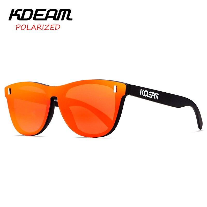 Une pièce Design HD lentille miroir TR90 cadre femmes lunettes de soleil polarisées hommes lunette de sport UV400 6 couleurs KD260 KDEAM