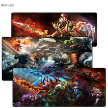 лучшая цена Mairuige DOTA 2 Rubber Gaming Lock Edge Mouse Pad mouse mat desk mats for gamer large mousepad for Tanks Of World CSGO LOL Gamer