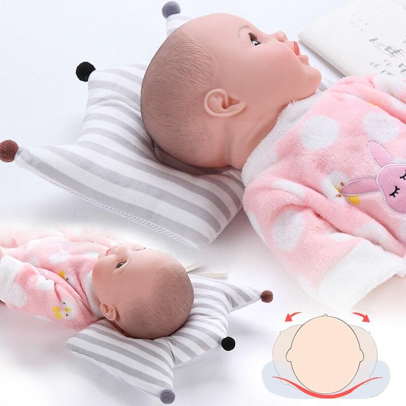 Muslinlife Newborn Baby Shaping Pillow Cotton Baby Bedding Pillows Sleep Positioner Head Baby Kids Pillows Dropship