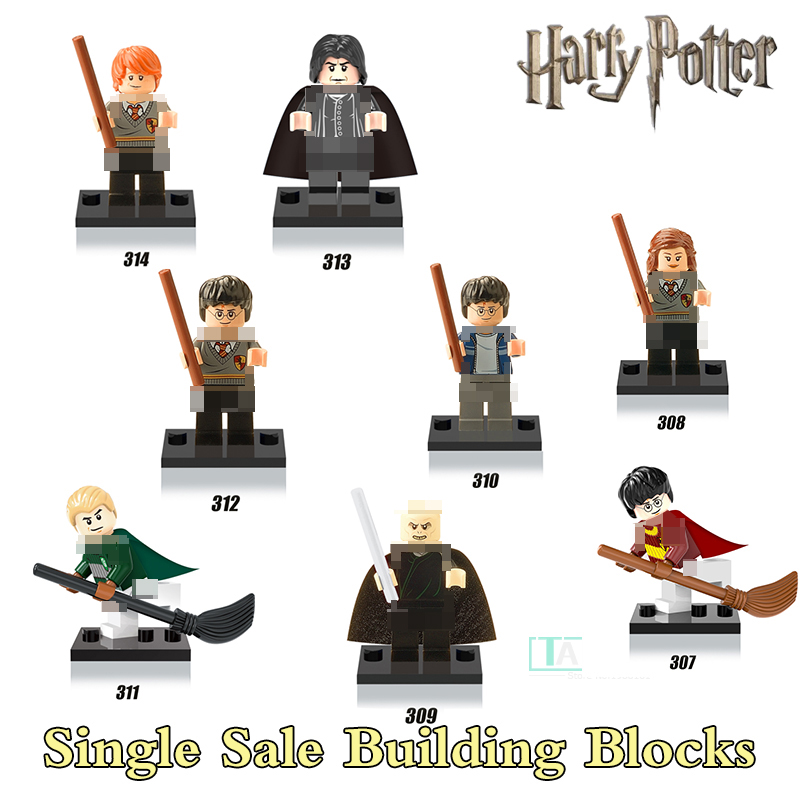 Harry Potter Hermione Half-Blood Prince Ron Lord Voldemort Figures Bricks Educational Building Blocks Kids Toys Xmas Gift X0121 harry potter professor dumbledore hermione ron fred george death eater assemble building blocks diy figures bricks kids toys