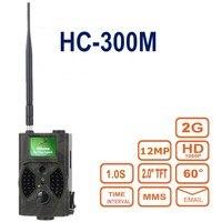 게임 흔적 사냥 카메라 HC-300M HD 사냥 흔적 디지털 카메라 비디오 동물 스카우트 적외선 12MP GSM MMS