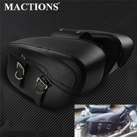 Motorcycle Saddlebag Leather Tool Bag 2pcs For Harley Sportster XL 883 XL 1200 For BMW R1200GS Outdoor Bags