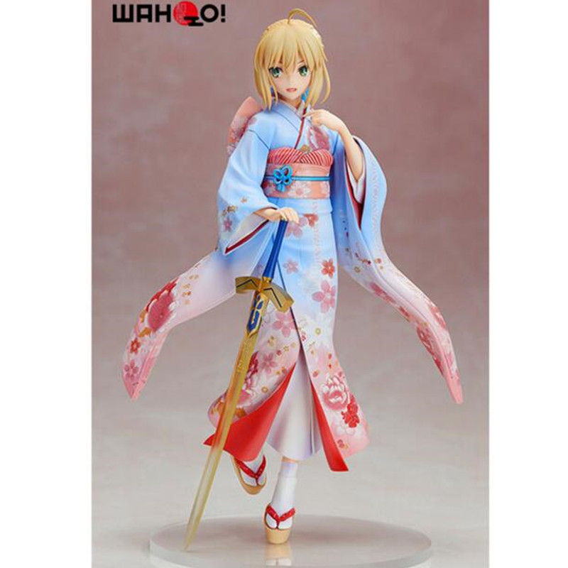 Anim Fate/Stay Night Saber Kimono with Excalibur Haregi Ver 1/7th Scale PVC Action Figure Collection Model huong anime fate stay night fate 24cm saber lili battle ver pvc action figure collectible toy model briquedos christmas gift