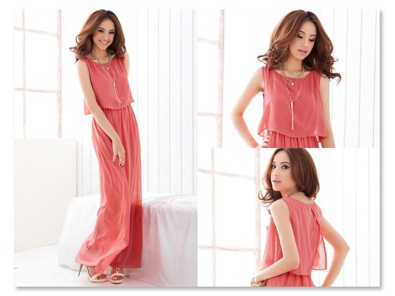 2018 Brand Women Boho Maxi Dress Chiffon Sleeveless Summer vestidos Beach Casual Maxi Dress Long Dress Top Party Sundress S-XXXL (5)