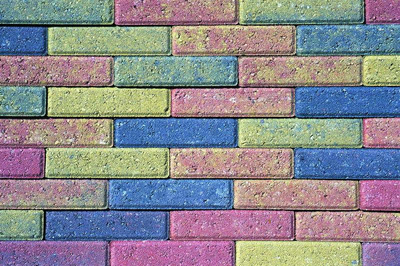 ladrillos de colores de fachada de clinker de colores de
