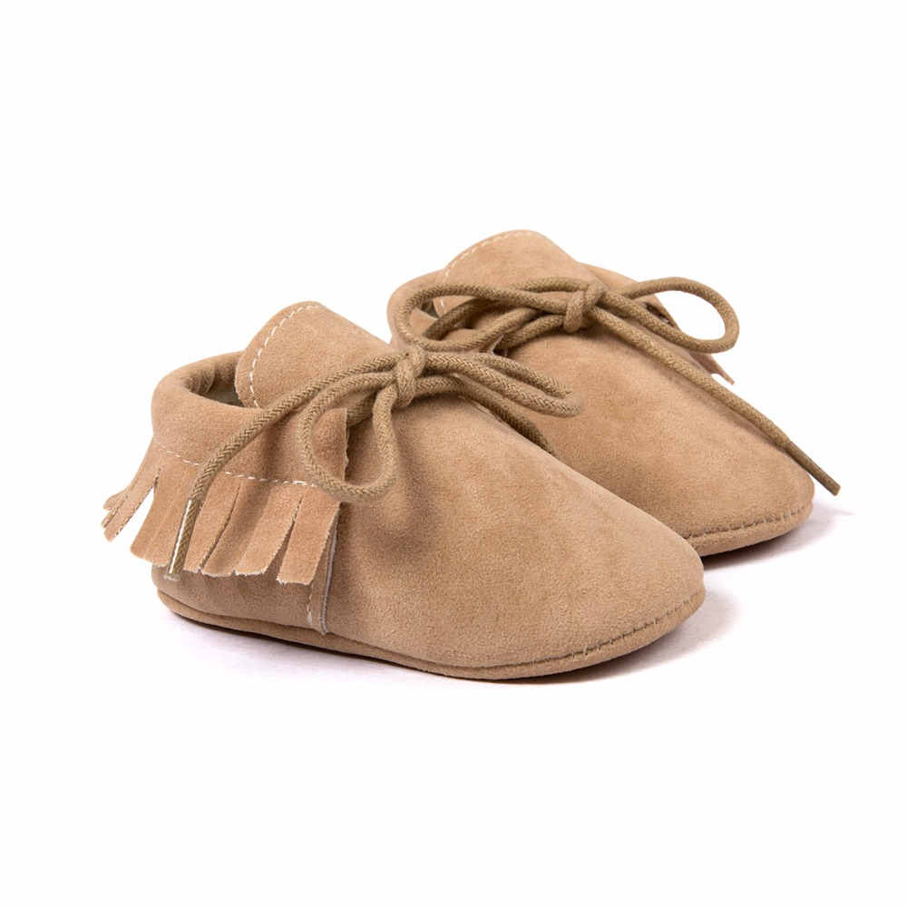Infant Boy Girl Soft Moccs Fringe Soft Soled Non-slip Footwear Crib Shoes PU Suede Leather Baby Moccasins Hot First Walkers