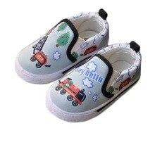 Impresión de la historieta niños zapatos niños niñas zapatos cómodos suaves únicos zapatos de lona ocasionales niños sneakers plana zapatos sin cordones mocasines
