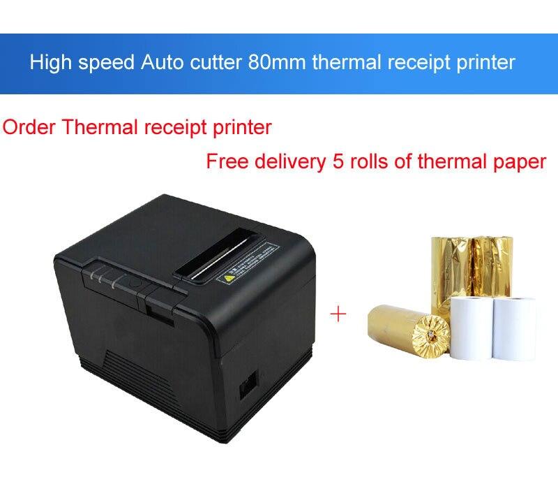 Imprimantes de cuisine d'imprimante thermique de reçu d'imprimante de position de coupeur automatique Original de 80mm