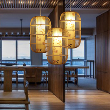 New Chinese Birdcage Pendant Lights Retro Cafe Restaurant Corridor Solid Wood Pendant Lamp Home Decor Hanging Lighting Fixtures 2018 american village retro originality restaurant wall lamp chinese style wood bamboo personality home decor luminaria lights