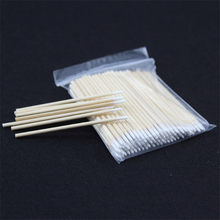 Pointed Cotton Swabs For Tattoo Eyebrow Lip Eyeline Nail Eyelash Permanent Makeup Ear Jewelry Clean 7.5cm(China)