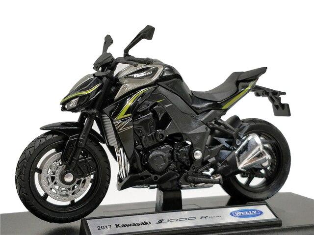 Welly 1:18 Kawasaki NINJA Z 1000R 2017 Diecast אופנוע