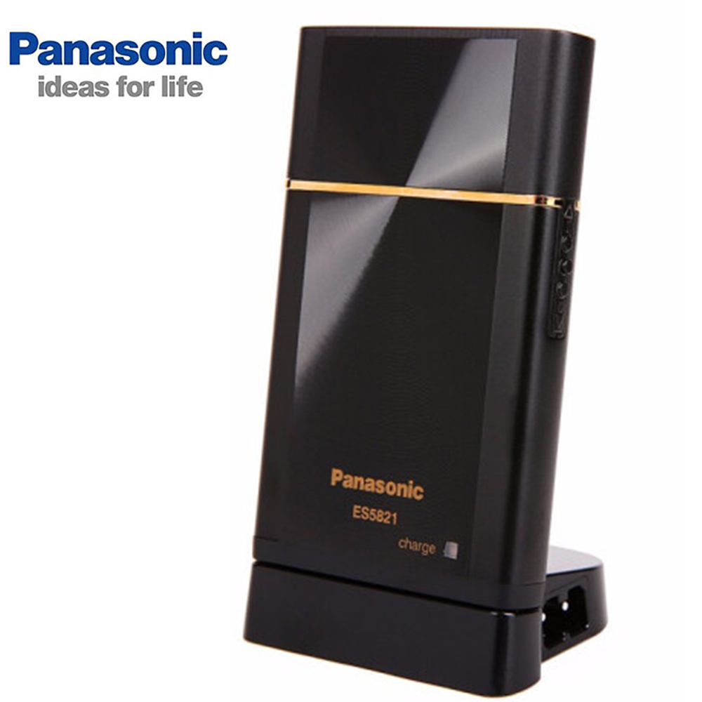 Panasonic Portable Rechargable Electric Shaver Razor With Independent Floating Single Cutter Head Wet And Dry ES5821