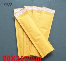 100 pçs estilo longo kraft papel embalagem bolha mailer sacos acolchoado envio envelope com bolha saco de correio suprimentos de negócios