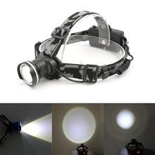 Camo T6 XML LED Headlight 2000Lm Adjustable Headlamp Flashlight Head Torch Linterna 18650 Cree 32-T6 4 Modes with AC/Car Charger