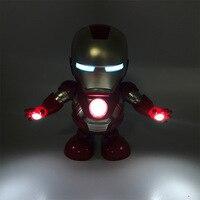 Dance Iron Man Action Figur Spielzeug LED Taschenlampe mit Sound Avengers Iron Man Held Elektronische Spielzeug Weihnachten Geschenk für Kinder 2019 Figuren & Miniaturen    -