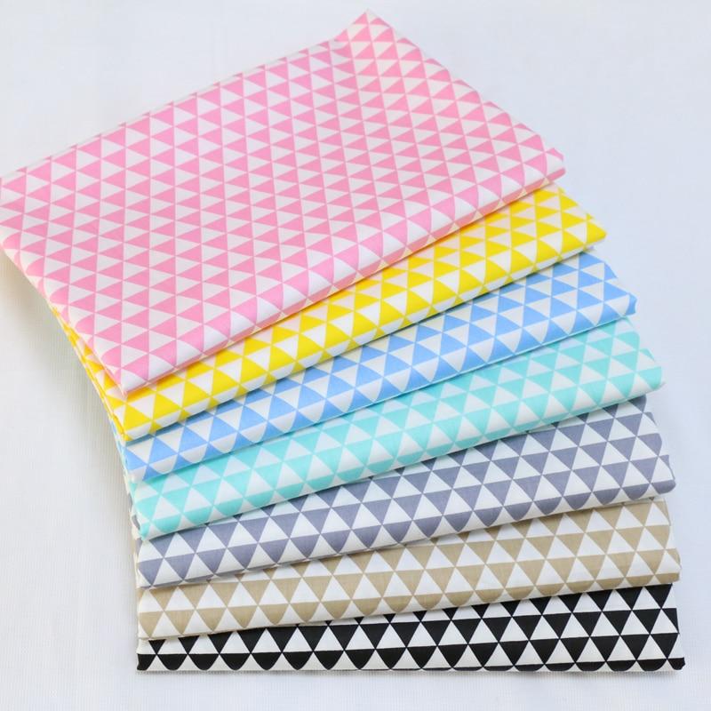 Free shipping 160x50cm / 7pcs 40*50cm Basic candy-colored Graphics cotton fabric twill DIY children's bedding cloth 180g/m